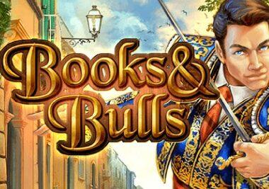 books and bulls slot logo