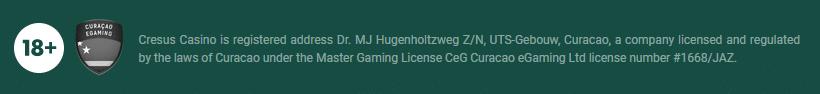 Licence de casino Cresus Casino