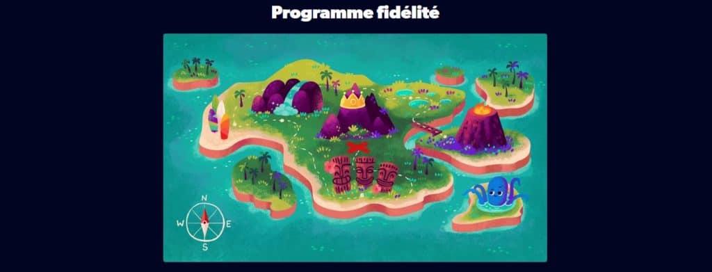Programme fidélité Kahuna Casino